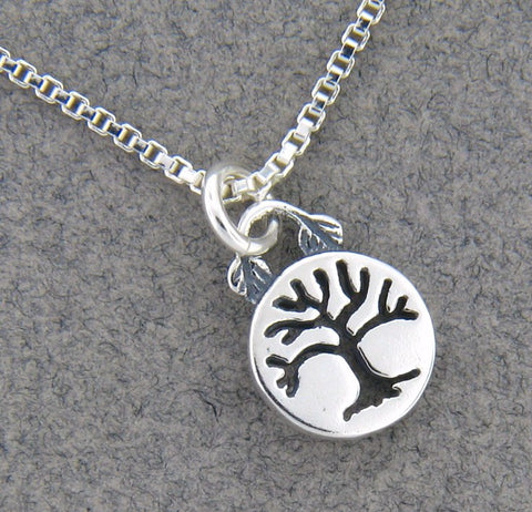 Sterling Silver Tiny Tree Necklace