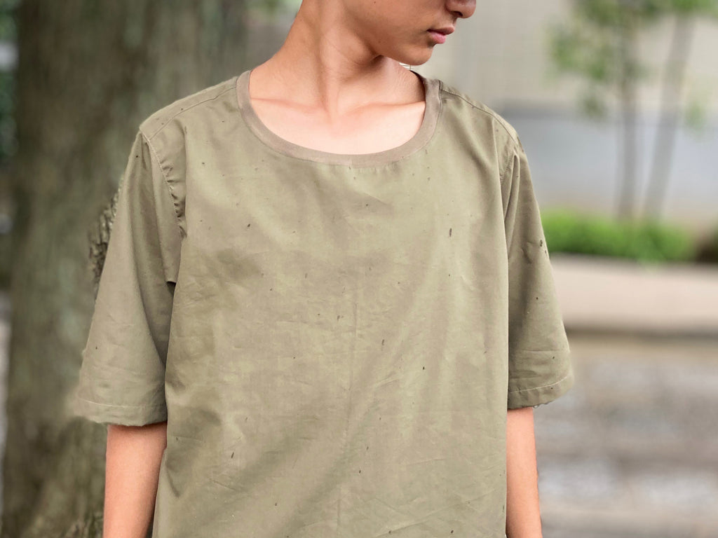 COTTON 6.5 SLEEVE T(肘丈袖)