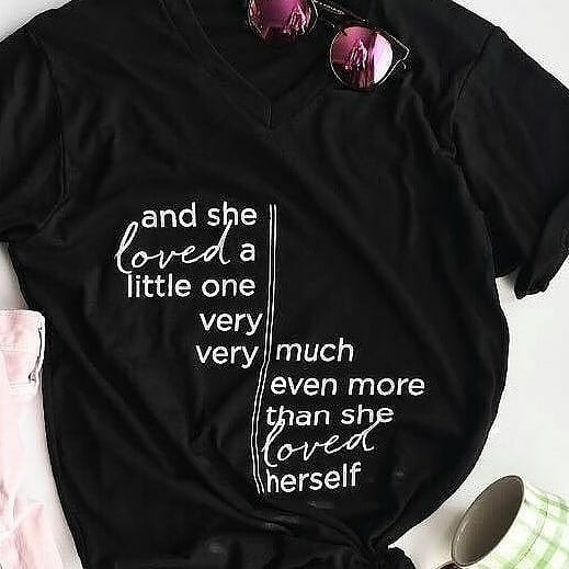 And she loved a little one Tee Shirt - GoldKloth Boutique