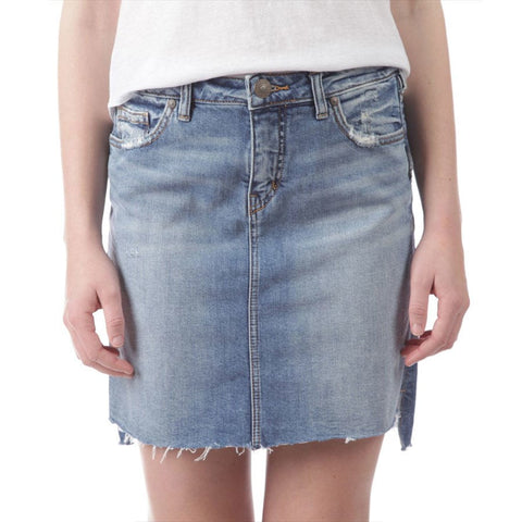 Silver Jeans Denim  Francy Skirt - GoldKloth Boutique