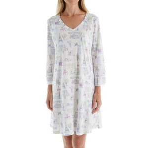 Carole Hochman Sleepshirt in Novelty Print Plus size / Curvy - GoldKloth Boutique
