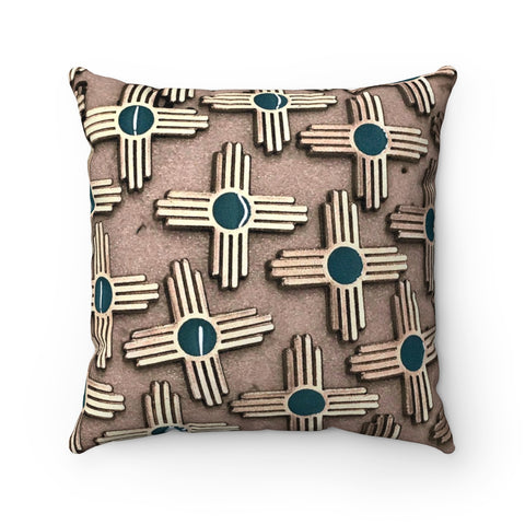 Viva la ZIA! Faux Suede Square Pillow