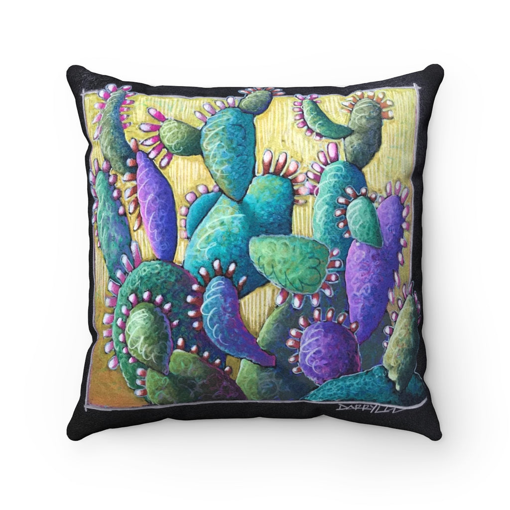 Cactus party! - Faux Suede Square Pillow