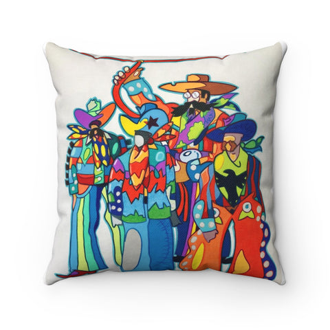 Beatles were cowboys-Spun Polyester Square Pillow
