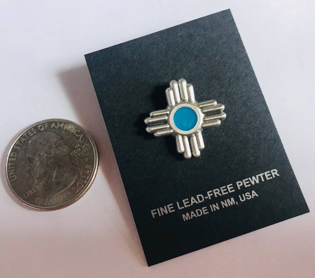 SM Zia pewter pin