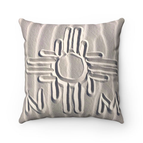 White sands-Spun Polyester Square Pillow