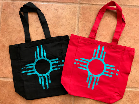 Distressed ZIA tote bags!
