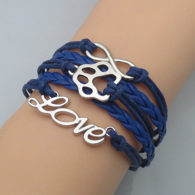 Pawprint Infinity Bracelet - 5 colors available