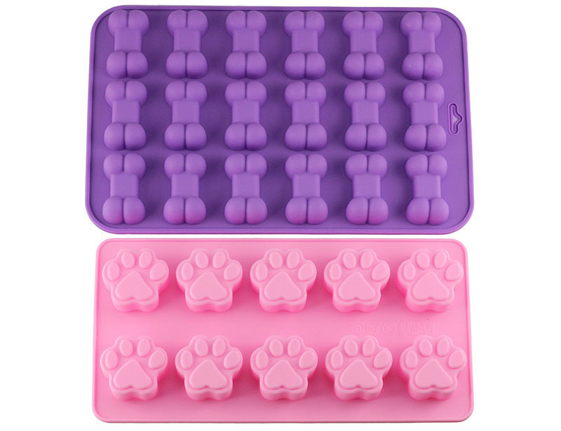 Silicone Pawprint and Bone Molds Set