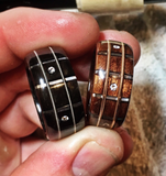 Diamond Guitar Fretboard Bentwood Ring