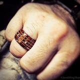 4 String Guitar Fretboard Bentwood Ring