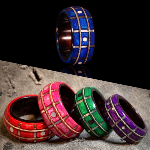 Color-Stained Guitar Fretboard Ring
