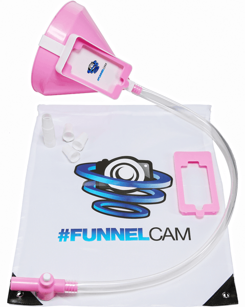 FunnelCam Pink Beer Bong with Funnel Tube and Valve
