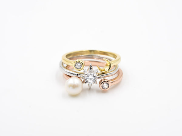 Fly-to-Moon Ring Set