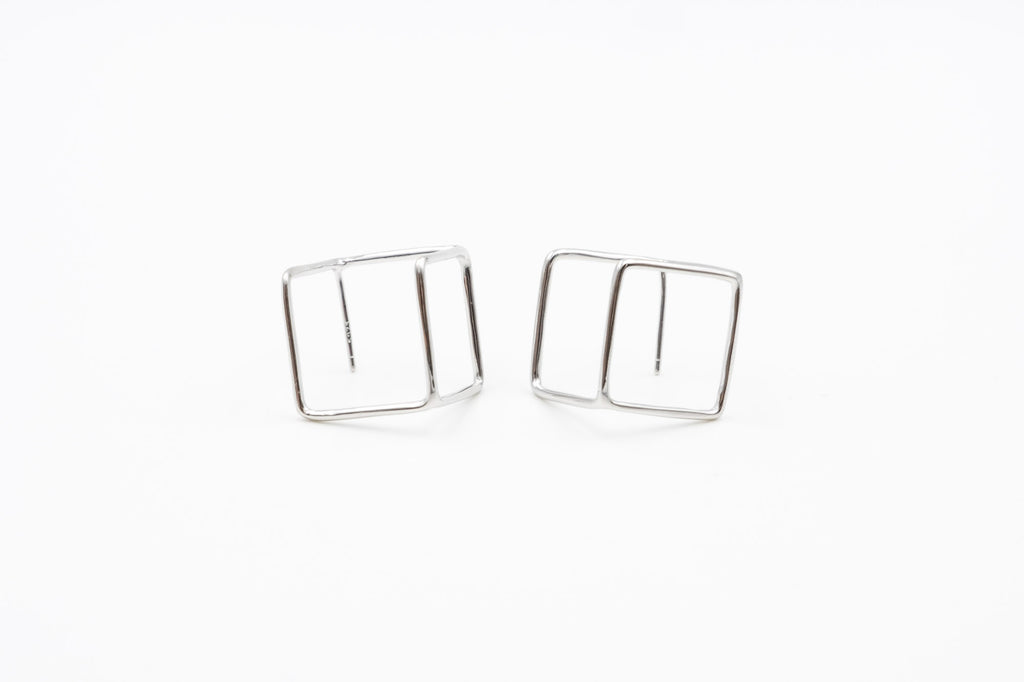 Abstract Cube Earrings