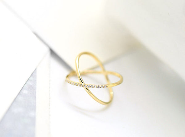 Gold Infinite Loop Ring