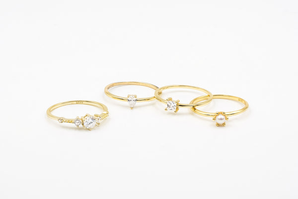 Delicate Ring Set (4 Rings)
