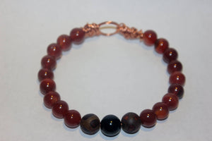 Men's Agate and Jasper Bracelet