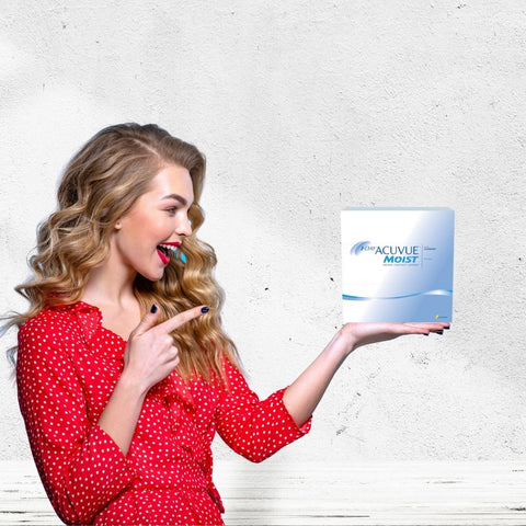 1 Day Acuvue Moist Daily Disposable Contact Lenses 90pk from Johnson & Johnson   anytimecontacts.com.au