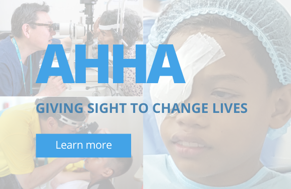 Support AHHA Charity Contact Lenses Banner | anytimecontacts.com.au