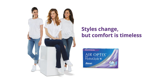 Air Optix Plus HydraGlyde Multifocal 3 Pack | anytimecontacts.com.au