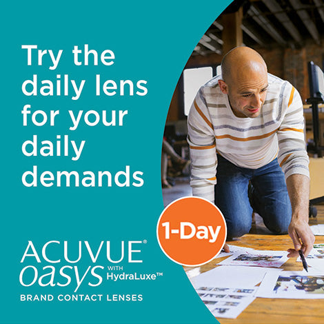 1 Day Acuvue Oasys Hydraluxe Daily Disposable Contact Lenses 90pk from Johnson & Johnson   anytimecontacts.com.au