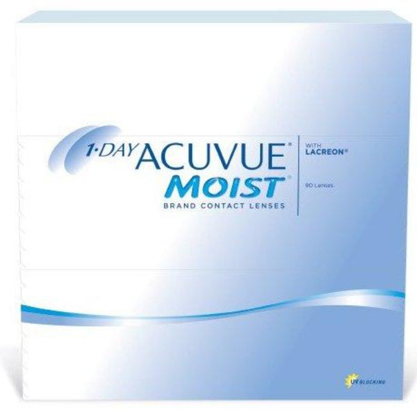 1 Day Acuvue Moist Daily Disposable Contact Lenses 90pk from Johnson & Johnson | anytimecontacts.com.au