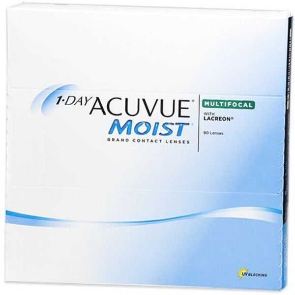 1 Day Acuvue Moist Multifocal Daily Disposable Contact Lenses 90pk by Johnson & Johnson | anytimecontacts.com.au