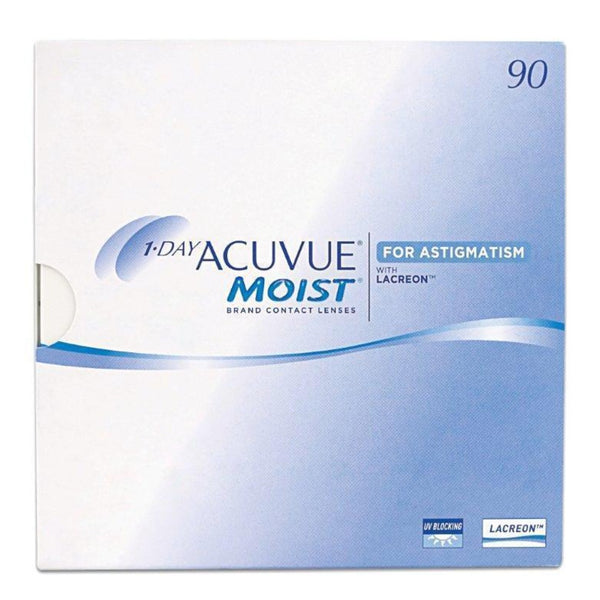 1 Day Acuvue Moist for Astigmatism daily disposable soft toric contact lenses 90pk from Johnson & Johnson | anytimecontact.com.au