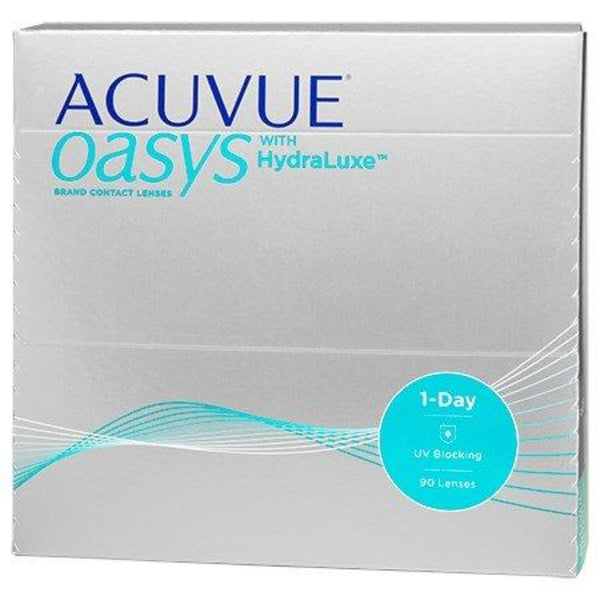 1 Day Acuvue Oasys Hydraluxe Daily Disposable Contact Lenses 90pk from Johnson & Johnson | anytimecontacts.com.au