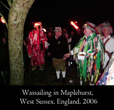 Wassailing in Maplehurst, West Sussex, England, 2006