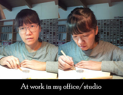 norma cheung, at work in my office/studio