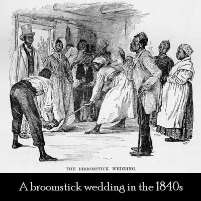 broomstick wedding virginia 1840s