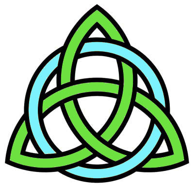 Celtic trinity knot with interlaced circle
