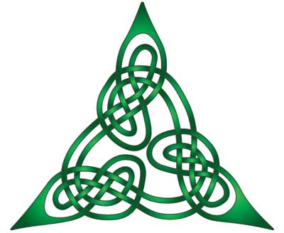 Celtic trinity knot or triquetra meaning