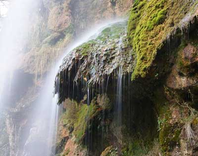 Celtic spiritual meaning of water - Misty waterfall on cliffs
