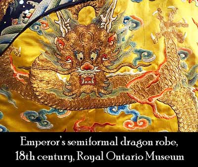 emperor's gold dragon robe with 5 claws