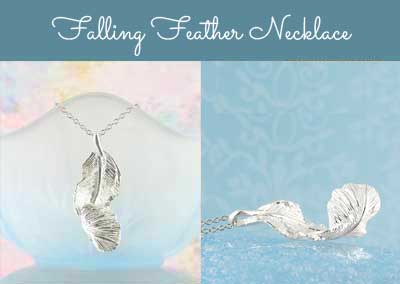 Falling feather necklace