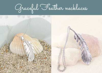 Graceful feather necklaces