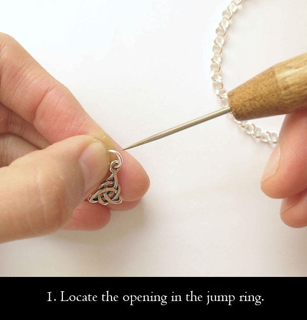 1. Locate the opening in the jump ring.