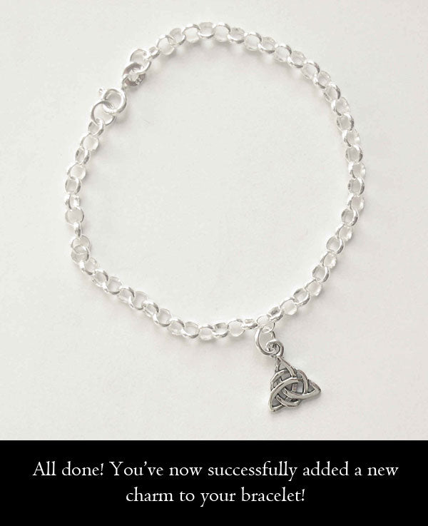All done! You've now successfully added a new charm to your bracelet!