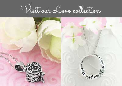Visit our love necklace collection