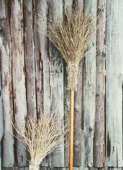 making your own besom broomstick