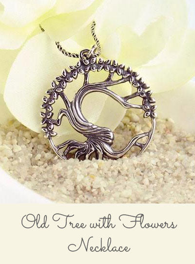 Old Tree with Flowers Necklace
