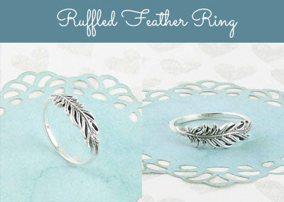 Ruffled Feather Ring