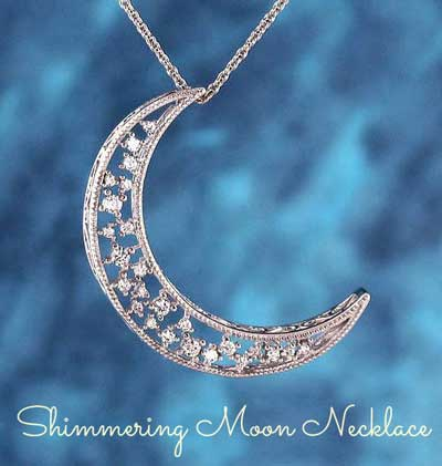 Shimmering crescent moon necklace