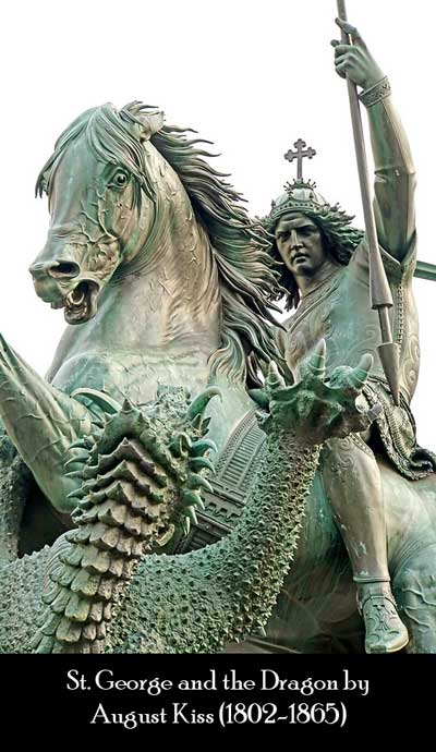 St. George and the Dragon by August Kiss