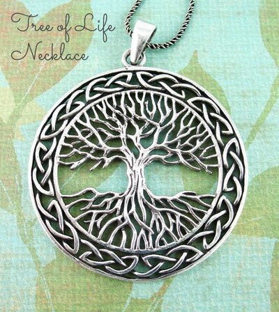 Large Celtic tree of life necklace