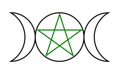 Triple Goddess Symbol - Triple Moon