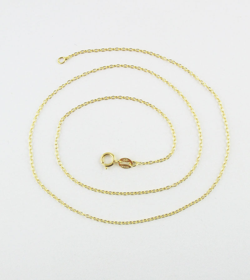 1.2 mm 18k Gold-Plated Sterling Silver Cable Chain